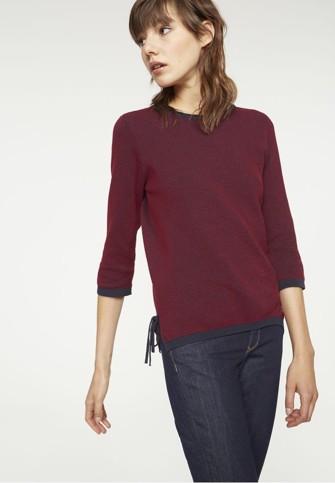 available in Nein - Strick Pullover Allover, 100% Baumwolle (bio), Regular fit, GOTS - sustainable materials and fair production