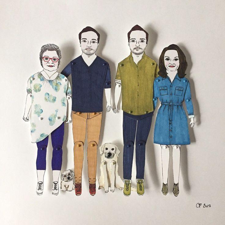"Cat Pang-Murray on Twitter: ""#familyportrait went2 #germany #personalisedgifts #wedding #weddinggifts #anniversary #paperdolls #illustration #birthdays #handmade https://t.co/tncYzSCXi5"""