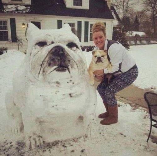 25 Incredible Snowmen And Snow Sculptures - Babble