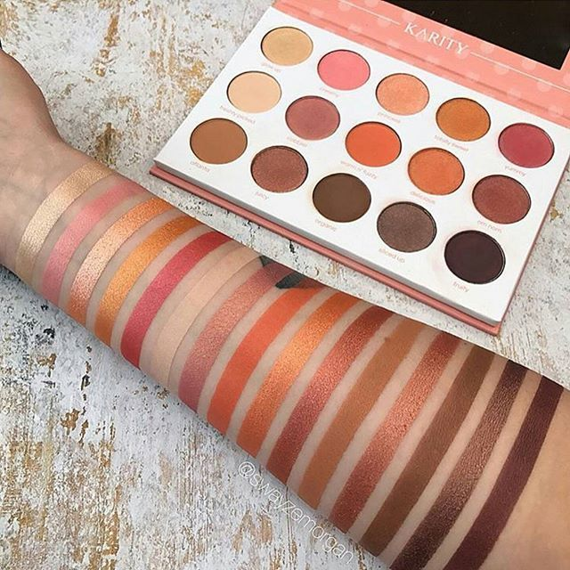 Karity Just Peachy Eyeshadow Palette!    Follow Treceefab for more!