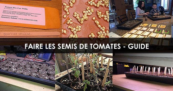 Semer des graines de Tomates. Instructions : http://www.jardinage-quebec.com/guide/semis-de-tomates/  #tomates #potager #jardinage