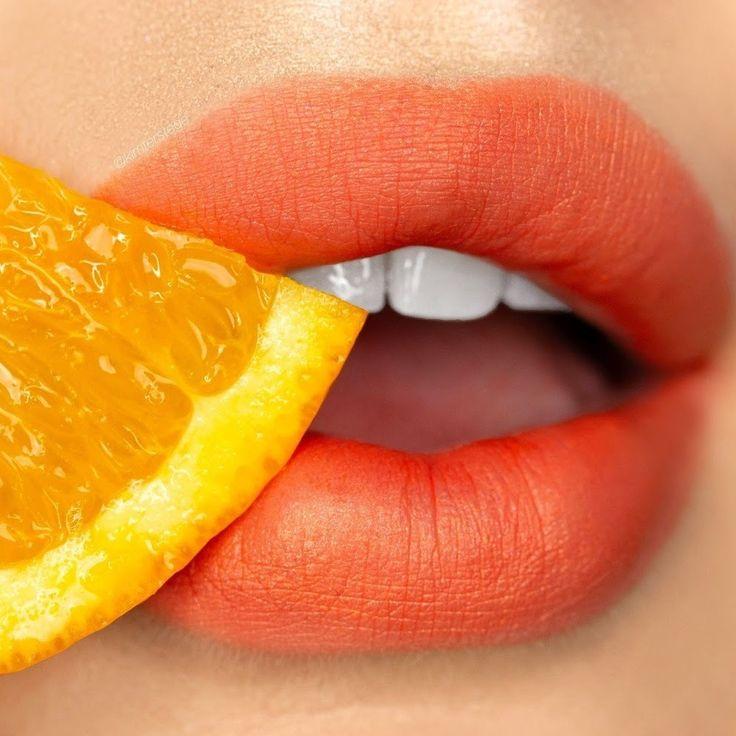 оранжевые губы картинки них