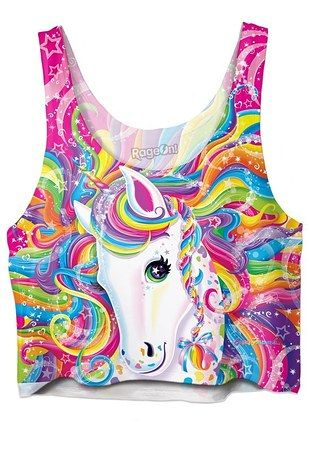 Pair these dolphin leggings with this unicorn crop top. | You Guys, You Can Now Buy Lisa Frank Crop Tops And All Is Right With The World