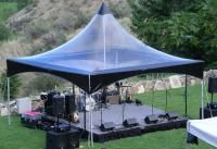 Clear 20x20 marquee with black trim