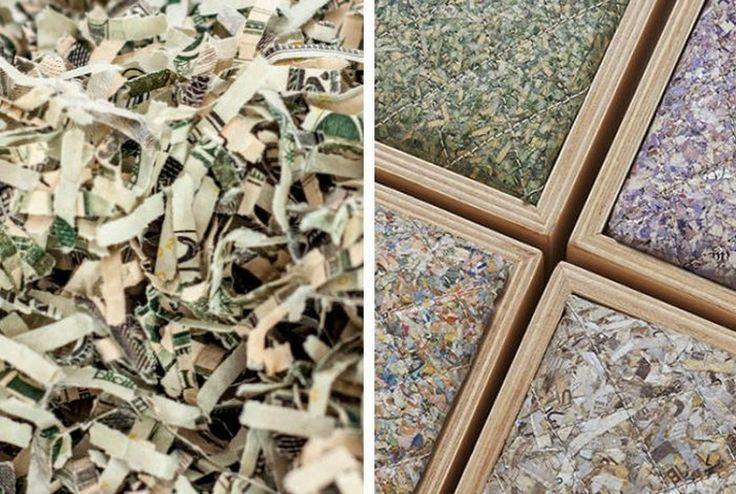 Эффектная утилизация отходов: мебель из настоящих денег http://on.fb.me/1S3EmaA