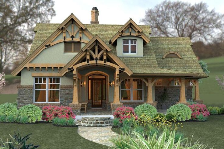 bungalow cottage craftsman tuscan house plan 65870 | craftsman