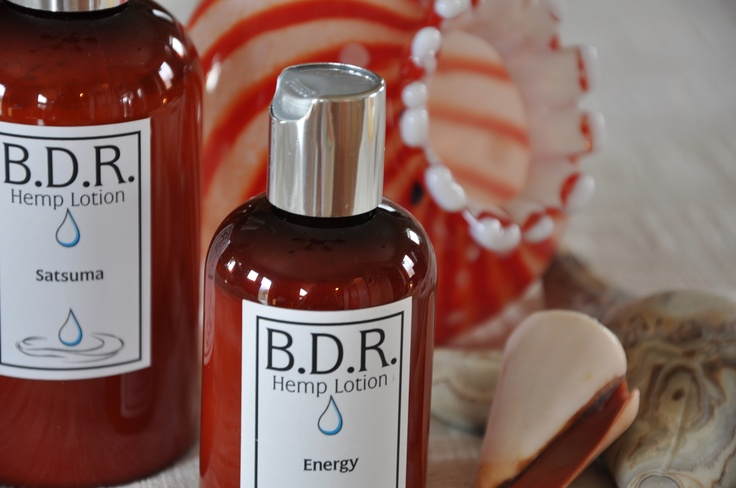 Hemp Lotion - lightweight and fast absorbing.  Comes in a variety of scents.  www.backdirtroad.com
