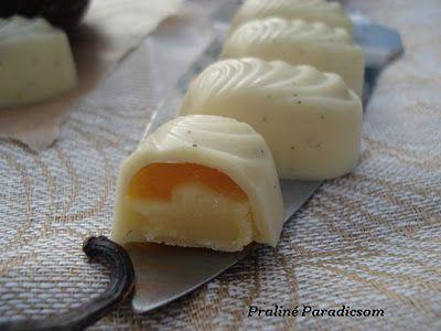 Mangós passiógyümölcsös bonbon