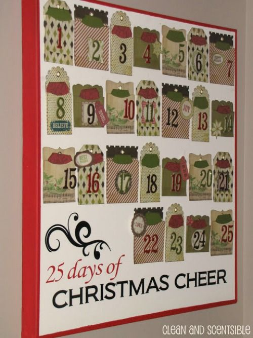Advent christmas activities for kids from clean for Diy christmas advent calendar ideas