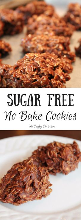 This time of year, cookies just seem to go with everything. I love sweets, but I dont want to eat sugar constantly. These sugar free no bake cookies are not only easy, but theyve got no refined sugar. They are DELISH!