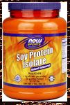 Now Brand Soy Protein Isolate- Just soy. 20 gm protein per serving.