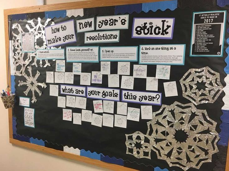 Ra bulletin board, resolutions, new year