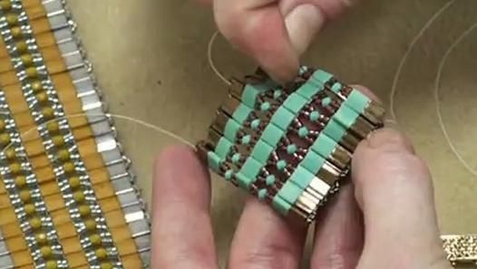 How To Bead Weave a Cuff Bracelet Using Tila Beads