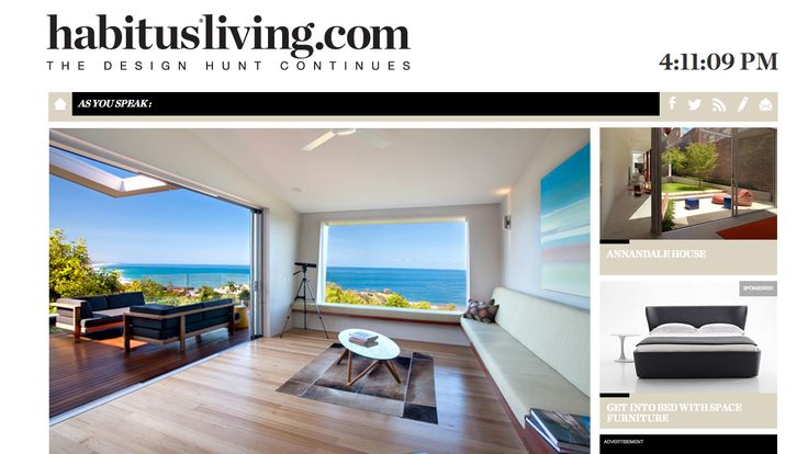 Our Tribu Pure Sofa on a recent Habitus Living cover photo -in beautiful Queensland! http://www.coshliving.com.au/