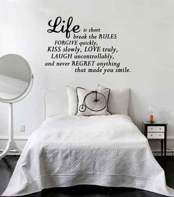Life Is To Short Wall Art Sticker Quote Vinyl by atLoudDesigns