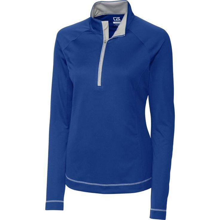 Cutter & Buck Women's DryTec Long Sleeve Evolve Half-Zip Golf Jacket, Size: Medium, Blue