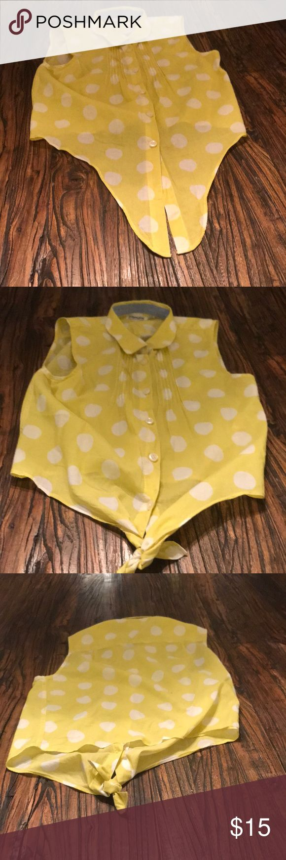 Yellow polka dot vest Polka dot , johnnie b , Jackets & Coats Vests