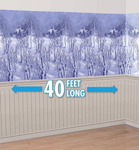 Winter Wonderland Room Roll 40ft X 4ft Party City