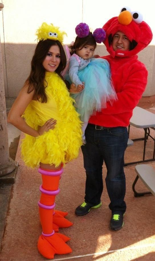 Our Sesame Street family costume! Big bird, Abby Cadabby, and Elmo! 2012