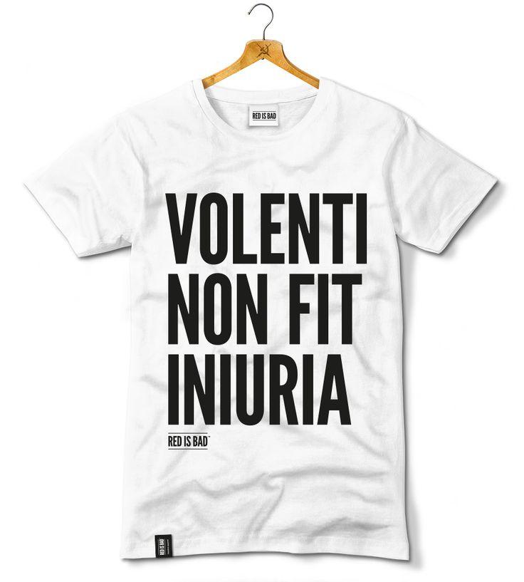 """Koszulka """"Volenti Non Fit Iniuria"""" - wersja biała"""