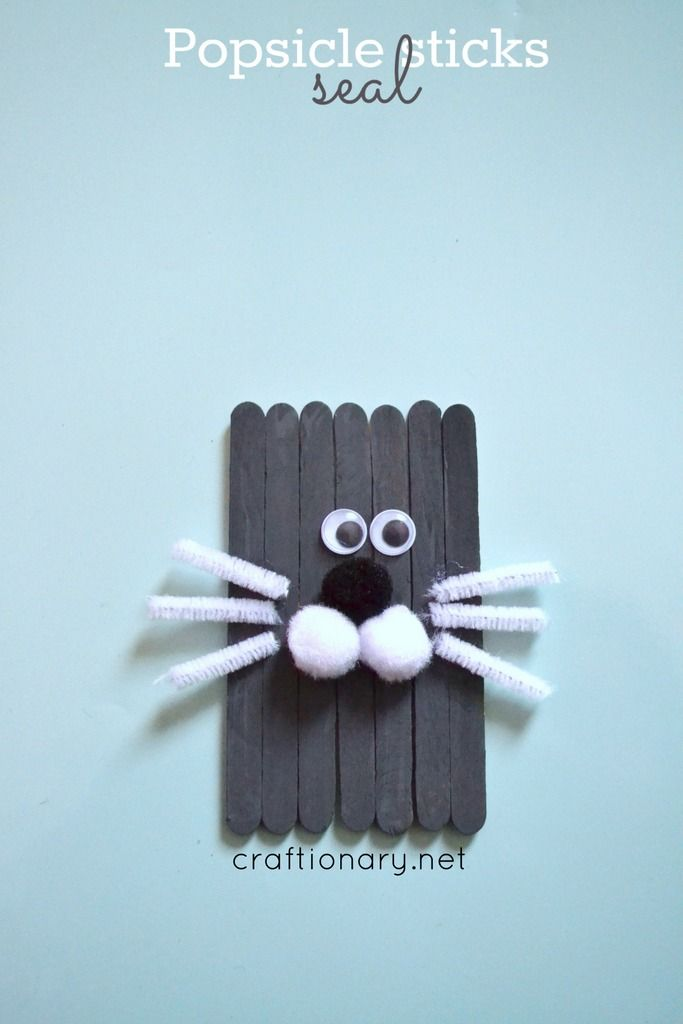 Following winter series of Arctic and Antarctic animal crafts for kids, I am sharing seal craft today. Make easy popsicle sticks seal craft with children.