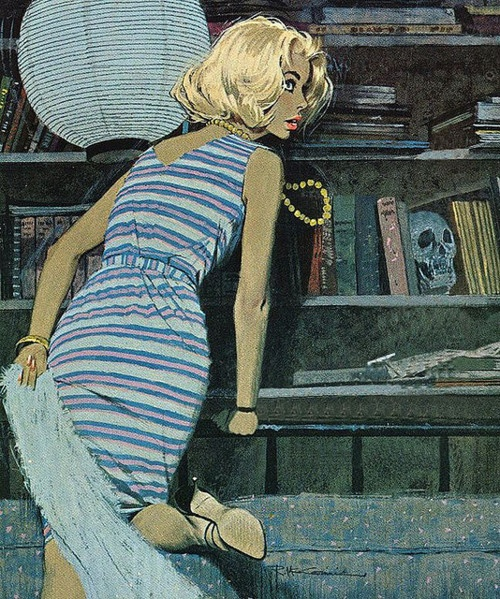 Love this 60s vintage illustration by Robert McGinnis!