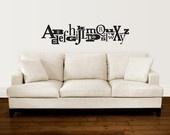 Fun, alphabet wall art decal.