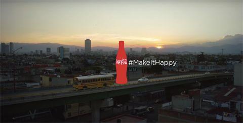 coca-cola hashtag billboard