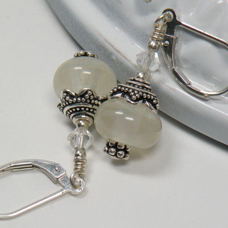 Handmade Lampwork Bead Dangle Earrings Icicles