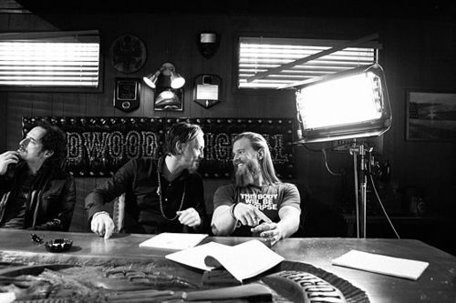 Behind the scenes of Sons of Anarchy. Kim Coats, Tommy Flanagan, & Ryan Hurst