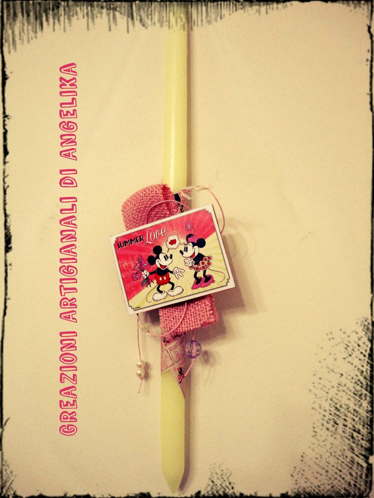 Easter Candle, Lampada, Λαμπάδα, Minnie Mouse (Eco Friendly)