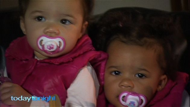 Queensland fraternal twins were born with different skin colour, defying genetics.