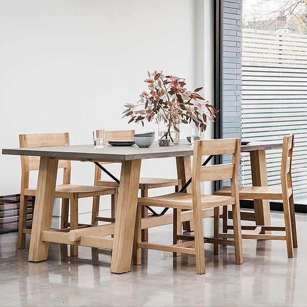 Hudson Living Chilson Oak Trestle Dining Table · Bock EsstischeAlthölzerner  ...