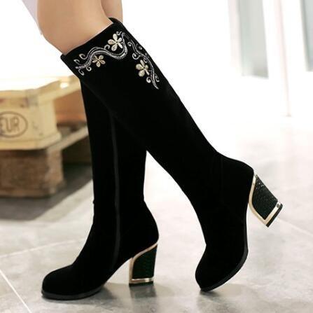Ucuz C2025 bayan Botları Platformu Tıknaz Kalın Topuklu Seksi Moda Diz yüksek Çizmeler Kadın sonbahar kış Çizmeler ayakkabı kadın Botas, Satın Kalite Diz-Yüksek Çizmeler doğrudan Çin Tedarikçilerden: C2025 bayan Botları Platformu Tıknaz Kalın Topuklu Seksi Moda Diz yüksek Çizmeler Kadın sonbahar kış Çizmeler ayakkabı kadın Botas