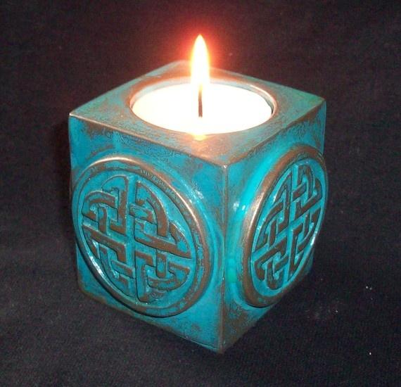 Celtic Tea Light Holder by GelertDesign on Etsy, £10.00