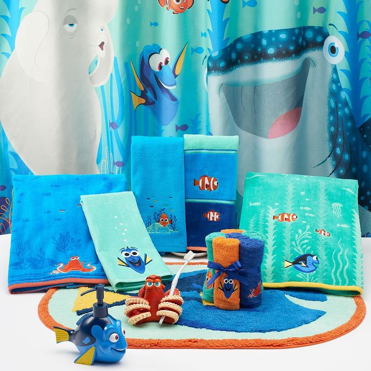 Help Find Your Favorite Fish With This Cute Disney/Jumping Beans Finding  Dory Shower Curtain Collection.