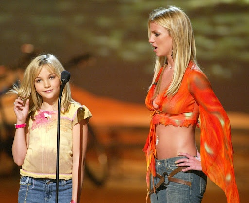 Britney and Jamie Lynn Spears Teen Choice Awards 2002