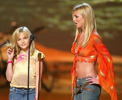 Britney and Jamie Lynn Spears Teen Choice Awards 2002