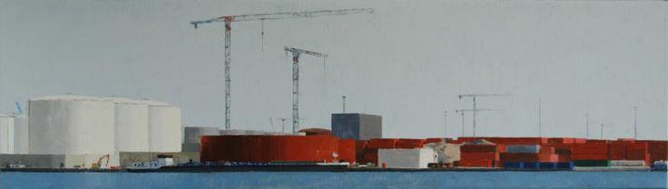 Harbour Antwerp (40 x 140 cm) by Gineke Zikken