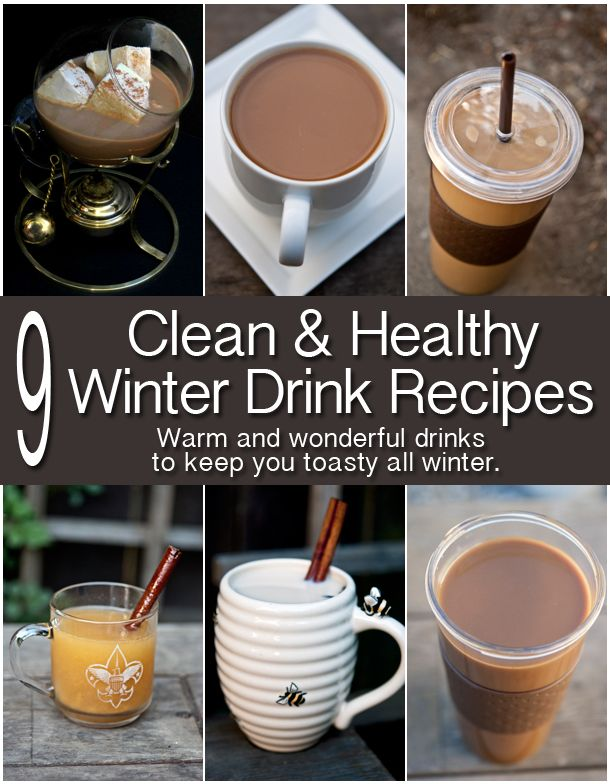 Hmmm... when is eating / drinking healthy cross the line into... yeah that kinda sounds gross??  ... Save for future taste testing ... From lattes to hot chocolate, these healthy recipes will keep you warm all winter.