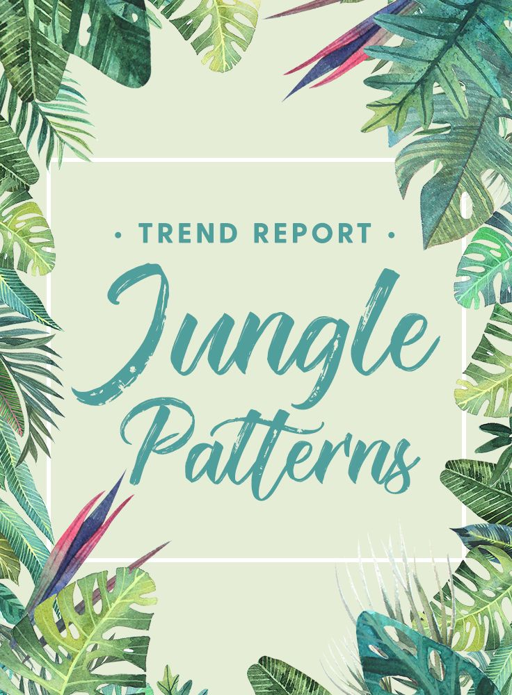 Design Trend Report: Jungle Patterns, Graphics, and Backgrounds