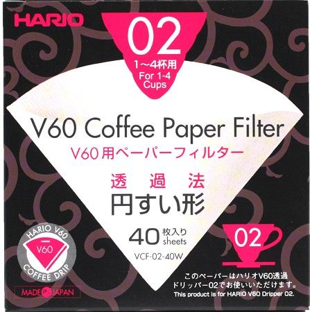 Hario V60 (02) Coffee Paper Filters: 1-4 Cups (5766)