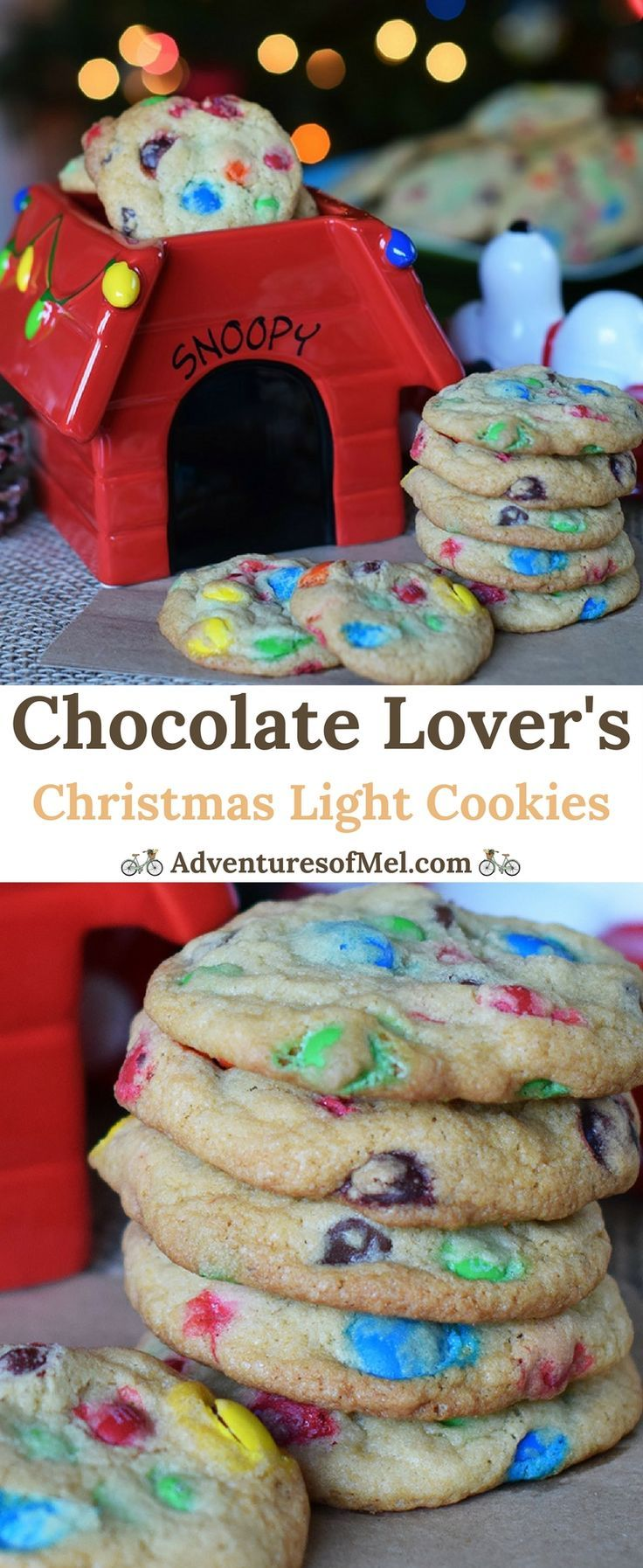 How to make a scrumptious holiday treat, Chocolate Lover's Christmas Light Cookies. Filled with M&M's, perfect for a Christmas party dessert! ad