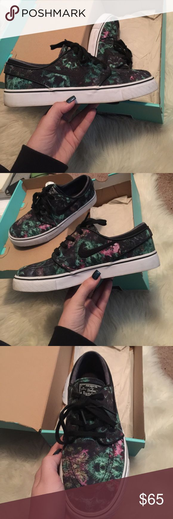 Nike Stefan janoskis women's 7.5 Gently worn black green purple janoskis women's 7.5 ready for a new owner. Comes with extra pair of black laces Nike Shoes Sneakers
