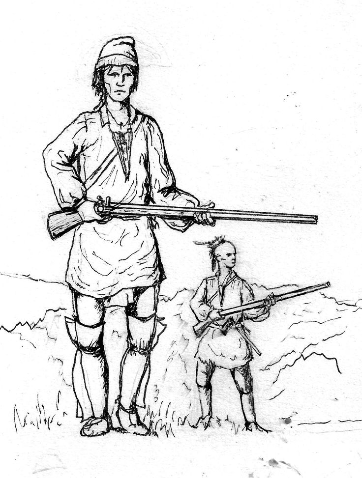 Seven Years War Canadian MIlitia and Native warrior