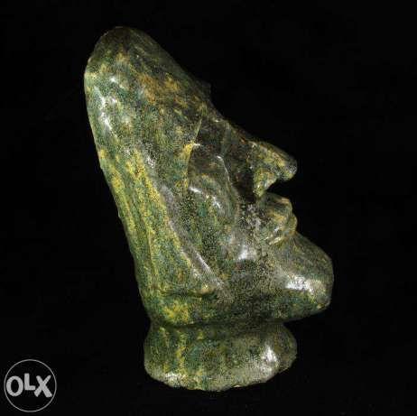 mała głowa Moai ceramika rzeźba rękodzieło prezent Poznań - image 1
