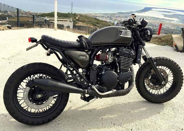 Triumph Legend Scrambler Pierre Poletti - Photo by Jean #motorcycles #scrambler #motos | caferacerpasion.com
