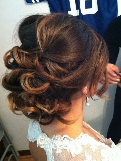 Wedding hair I really like this but with a few curls loose