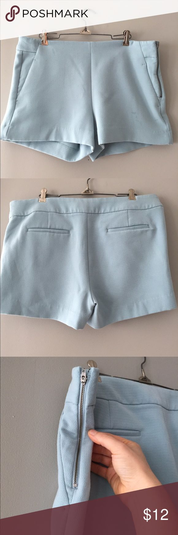 NWOT Banana Republic light blue shorts NWOT banana republic light blue shorts. Perfect to dress up or down. Material composition in photos. Smoke free, pet free home. Banana Republic Shorts