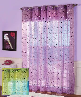 Sparkle Window Curtain Perfect For A Little Girls Room In